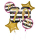70th Pink And Gold Milestone Balloon Bouquet 5pk - Party Savers