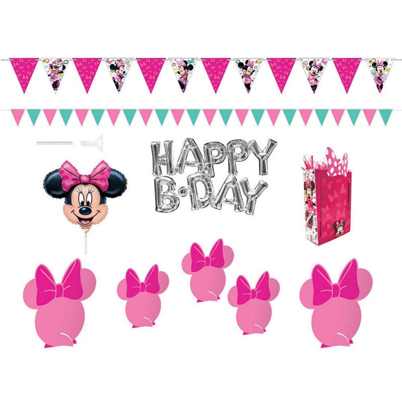 Minnie Mouse Happy Helpers Plastic Scene Setter Wall & Table Decorating Kit - Party Savers