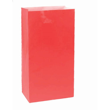 Apple Red Large Paper Bag 12pk