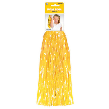 Yellow Cheerleader Pom Pom 1pc - Party Savers
