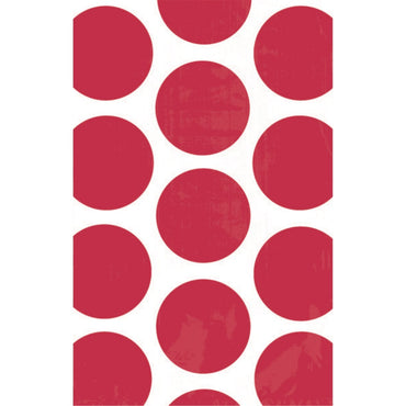 Apple Red Polka Dot Paper Bag 10pk