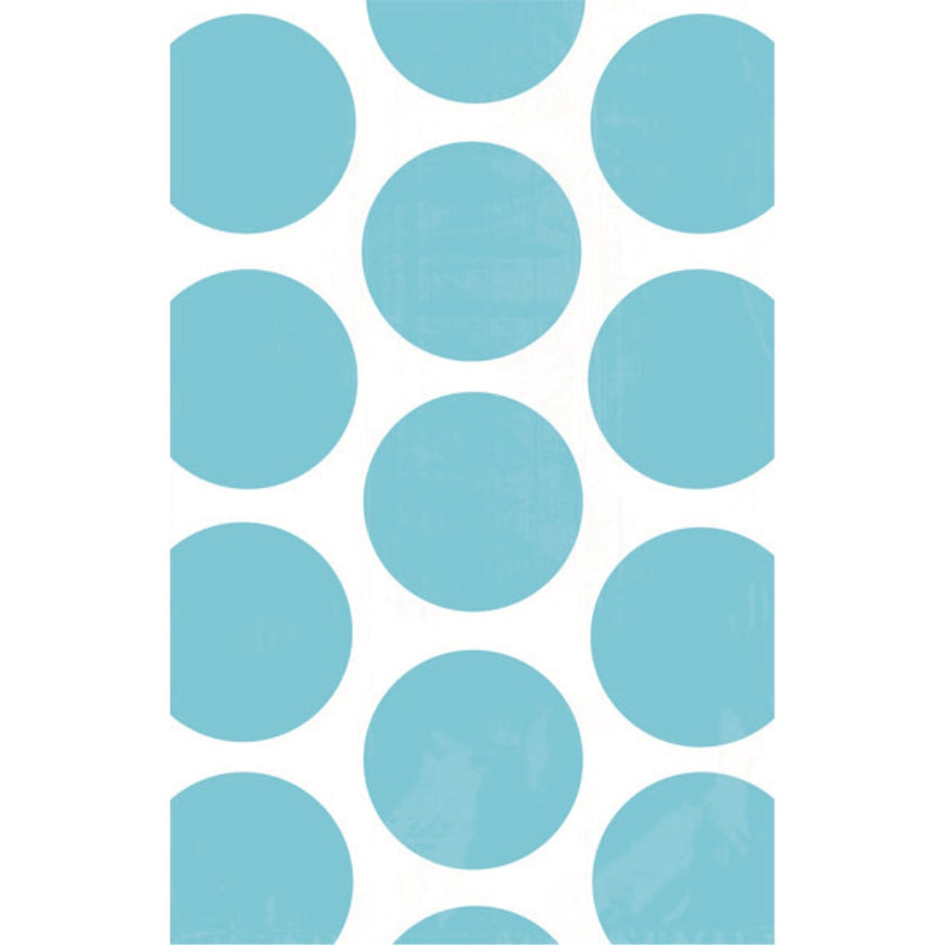 Caribbean Blue Polka Dot Paper Bag 10pk