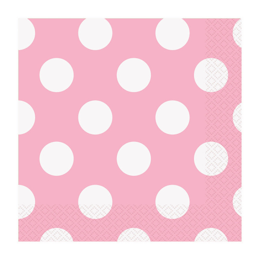 Royal Blue Dotty Lunch Napkins 33cm 16pk