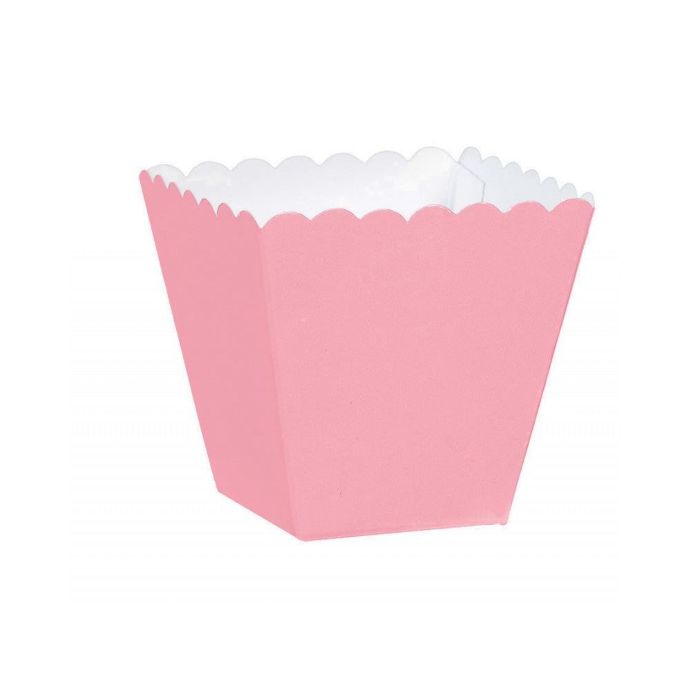 Pastel Pink Mega Pack Scalloped Paper Favor Box 100pk
