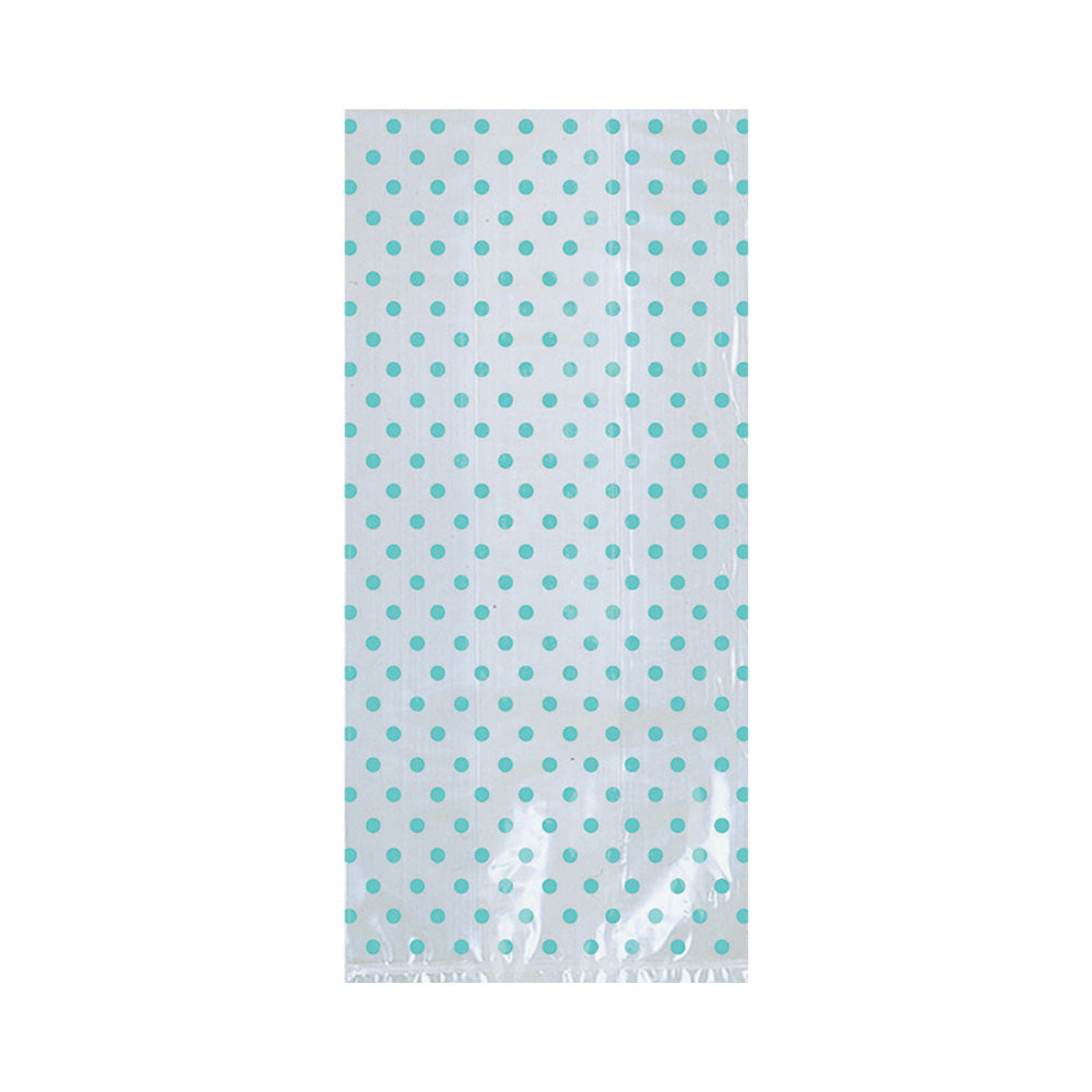 Robin Egg Blue Treat Bags With Bow 12pk