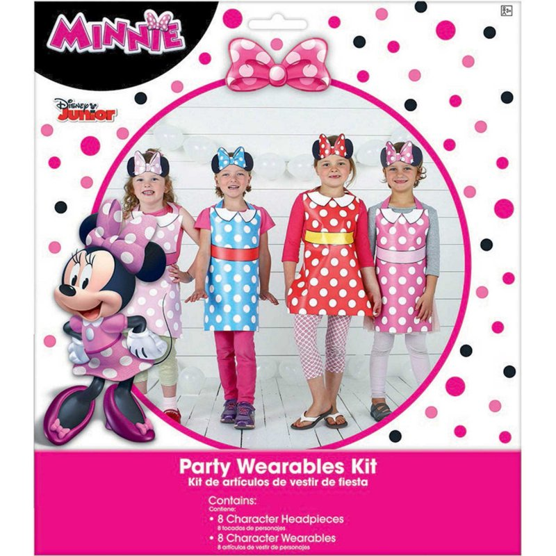 Minnie Mouse Happy Helpers Party Wearables Kit  16pk - Party Savers