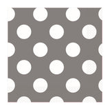 Silver Dotty Lunch Napkins 33cm 16pk