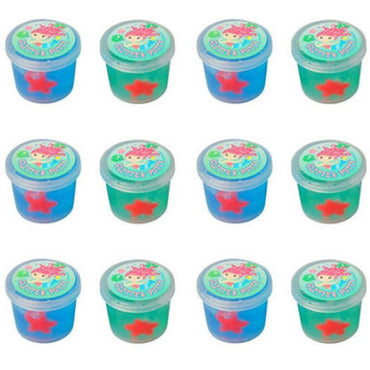 Mermaid Glitter Putty Assorted Colours 12pk