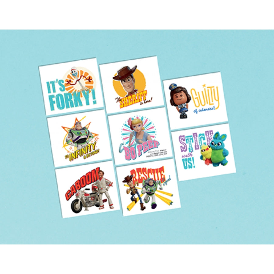 Toy Story 4 Tattoos 8pk - Party Savers