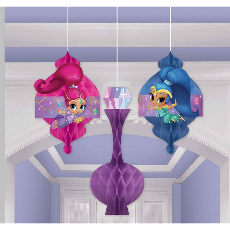 Shimmer and Shine Honeycomb Decoration 3pk