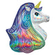 Holographic Iridescent Rainbow Unicorn Foil Balloon 76cm - Party Savers