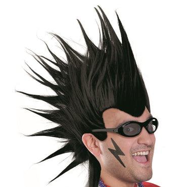 Black Mohawk Wig - Party Savers