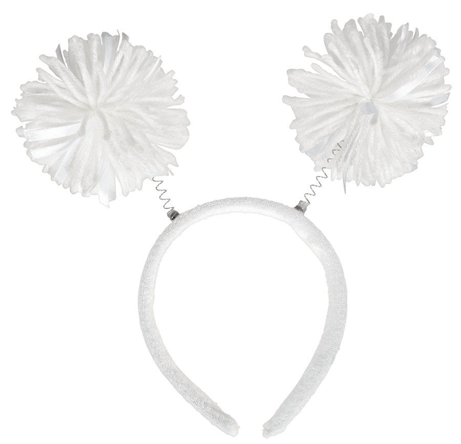 White Pom Pom Headbopper - Party Savers