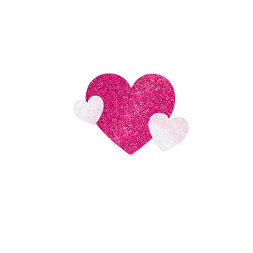 Pink Glitter Body Jewelry Team Spirit - Party Savers