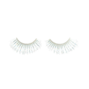 White Tinsel Eyelashes