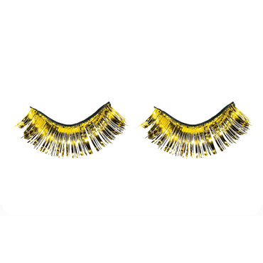 Yellow Tinsel Eyelashes