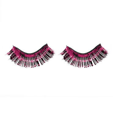 Burgundy Tinsel Eyelashes