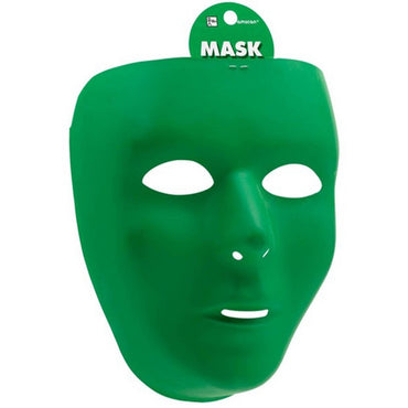 Green Full Face Mask - Party Savers