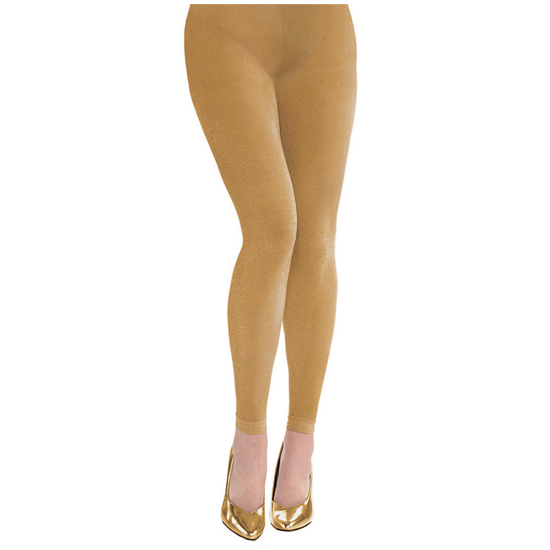 Gold Footless Tights - Party Savers