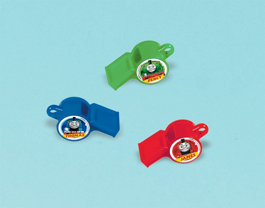 Thomas All Aboard Whistle 12pk - Party Savers