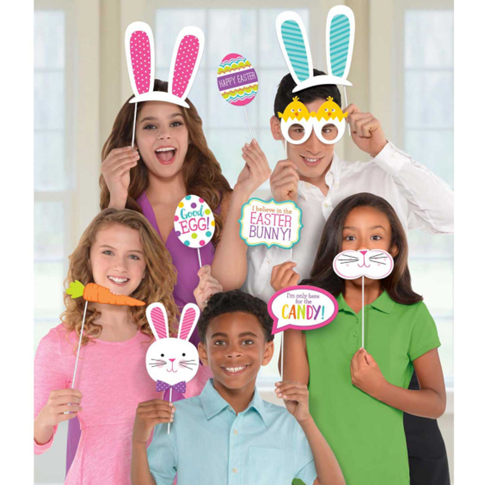 Easter Paper Cardboard Photo Props 13pk - Party Savers