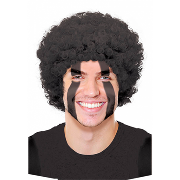 Black Curly Wig - Party Savers