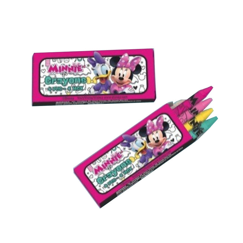 Minnie Mouse Happy Helpers Mini Crayons 12pk - Party Savers