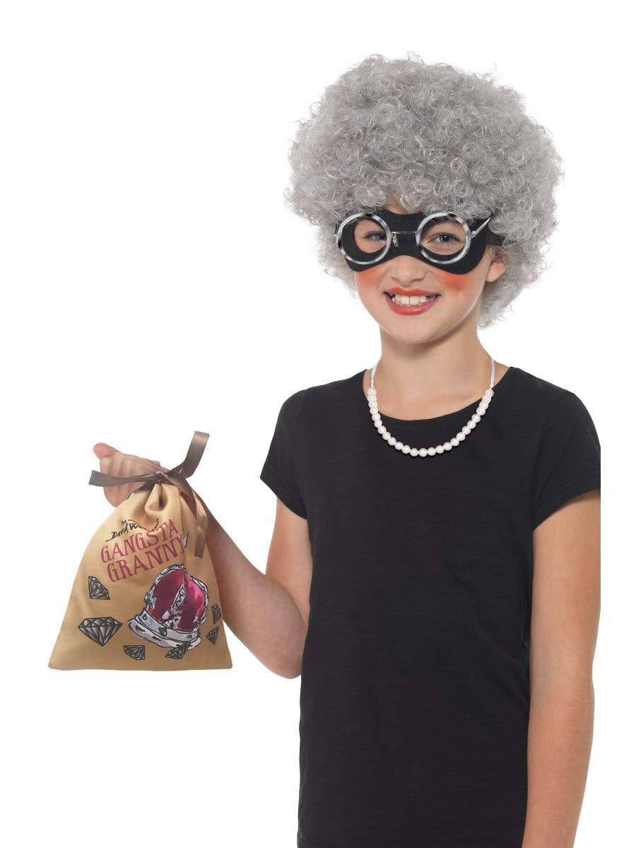 Grey David Walliams Deluxe Gangsta Granny Instant Kit - Party Savers