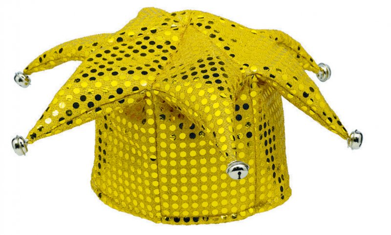Yellow Jester Sequin Hat