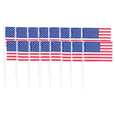 Patriotic American Flag Picks 120pk