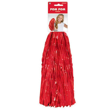 Red Cheerleader Pom Pom 1pk