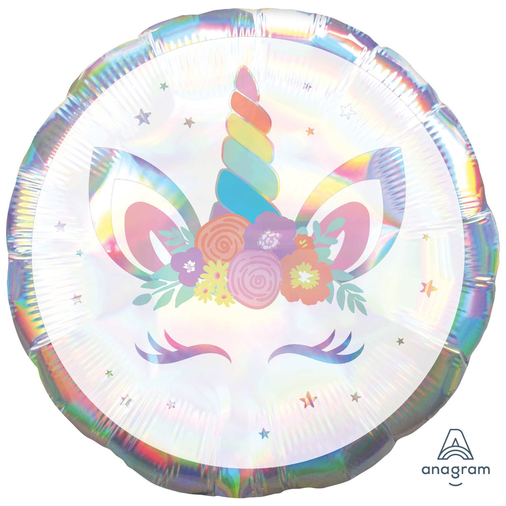 Holographic Unicorn Party Iridescent Foil Balloon 45cm - Party Savers