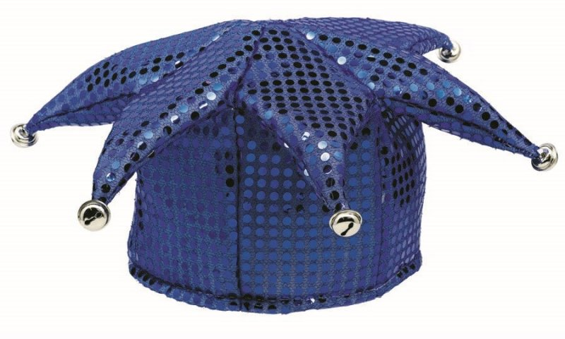 Blue Jester Sequin Hat - Party Savers