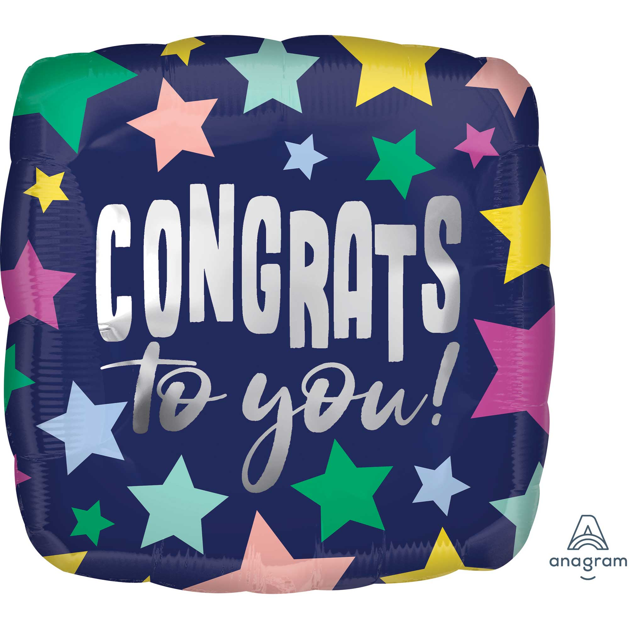Congrats to you Stars on Navy Foil Balloon 45cm - Party Savers