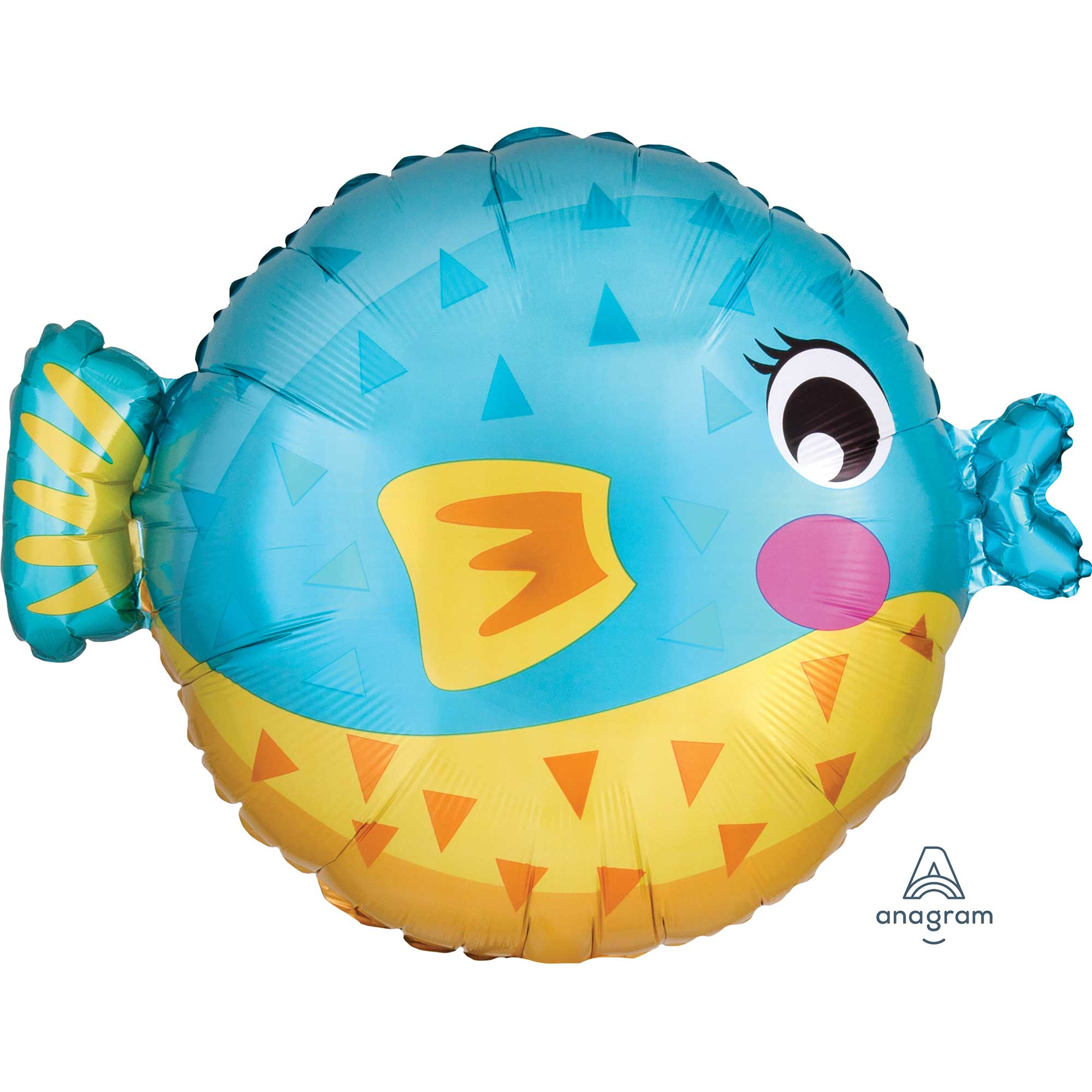 Puffer Fish Foil Balloon 45cm - Party Savers