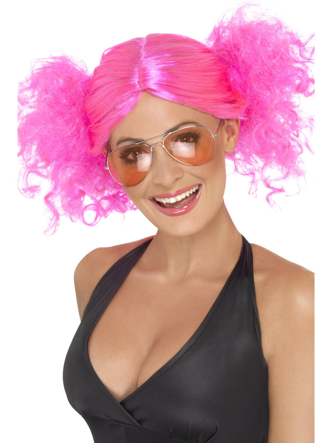Pink 80s Bunches Wig - Party Savers