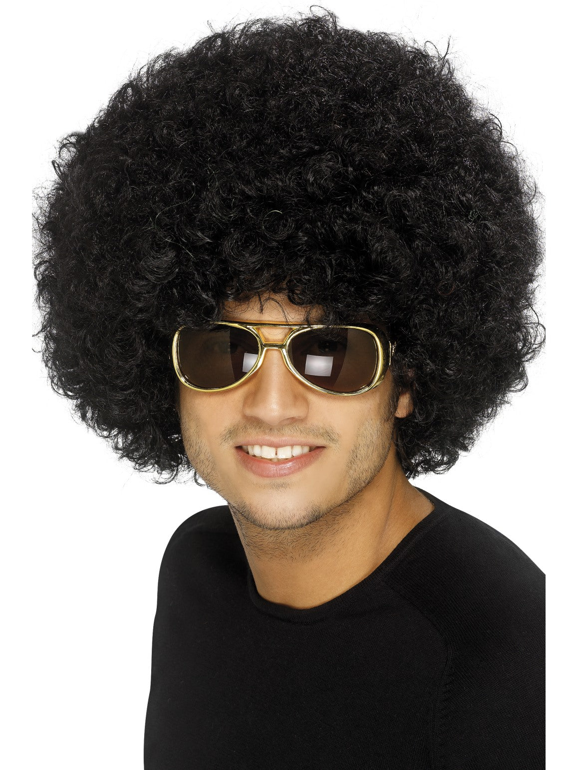 Black 70s Funky Afro Wig - Party Savers