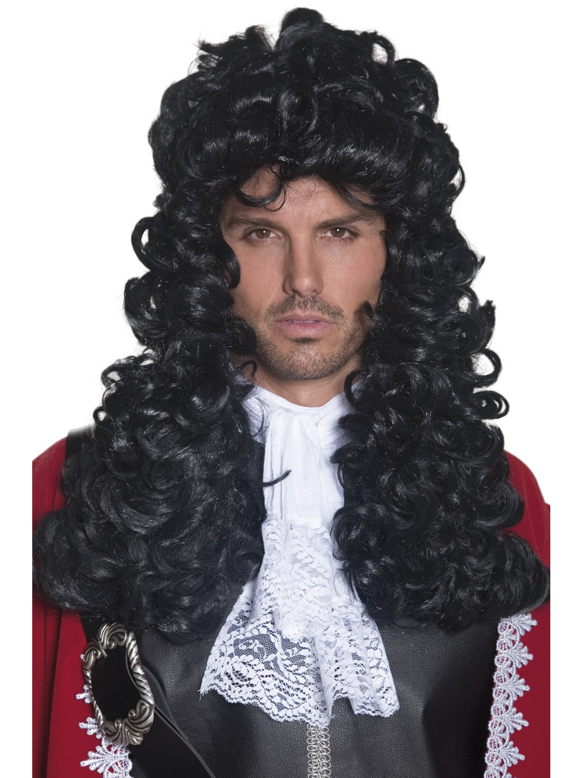 Black Pirate Captain Wig