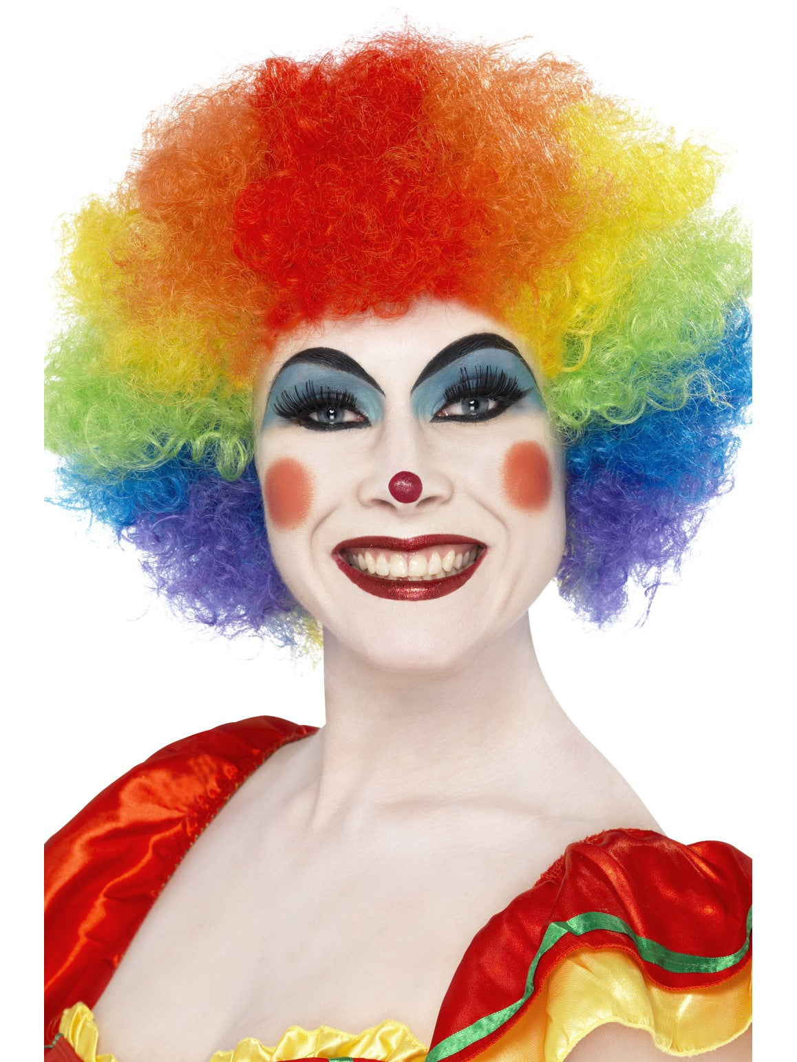 Multi Coloured Crazy Clown Wig - Party Savers
