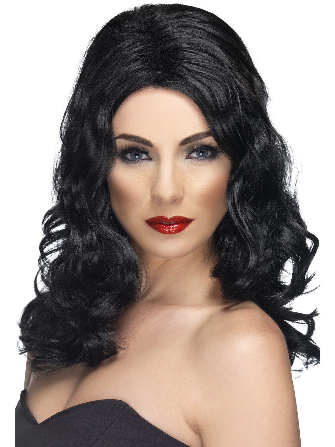 Black Glamorous Wig - Party Savers