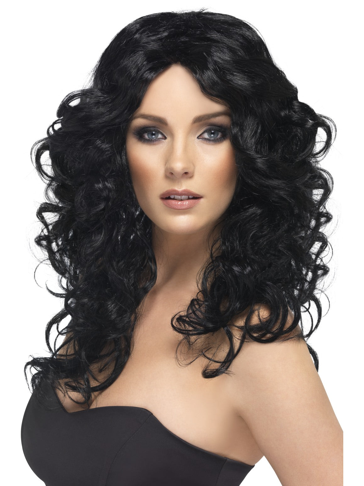 Black Glamour Wig - Party Savers