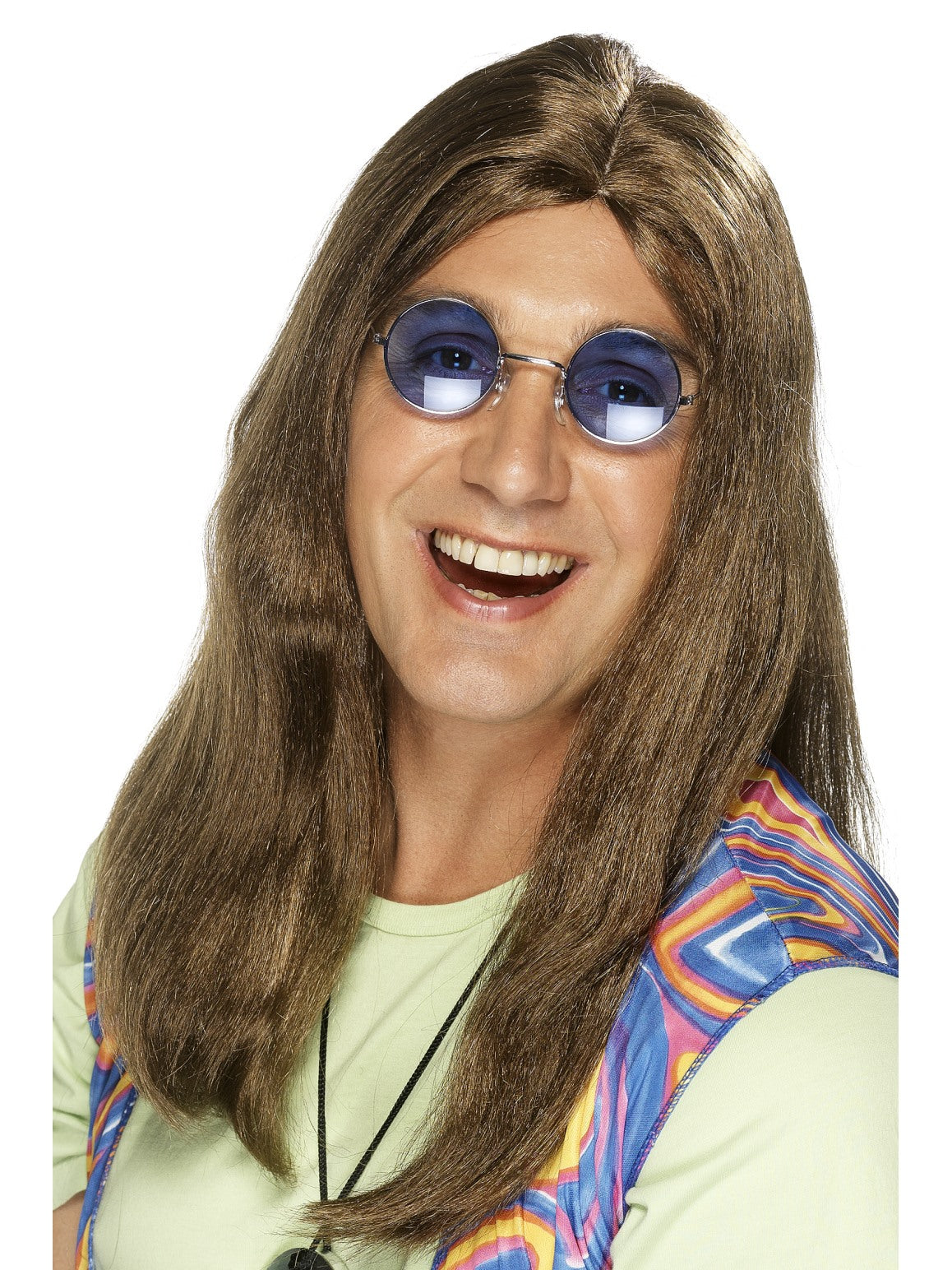 Brown Neil Hippy Wig - Party Savers
