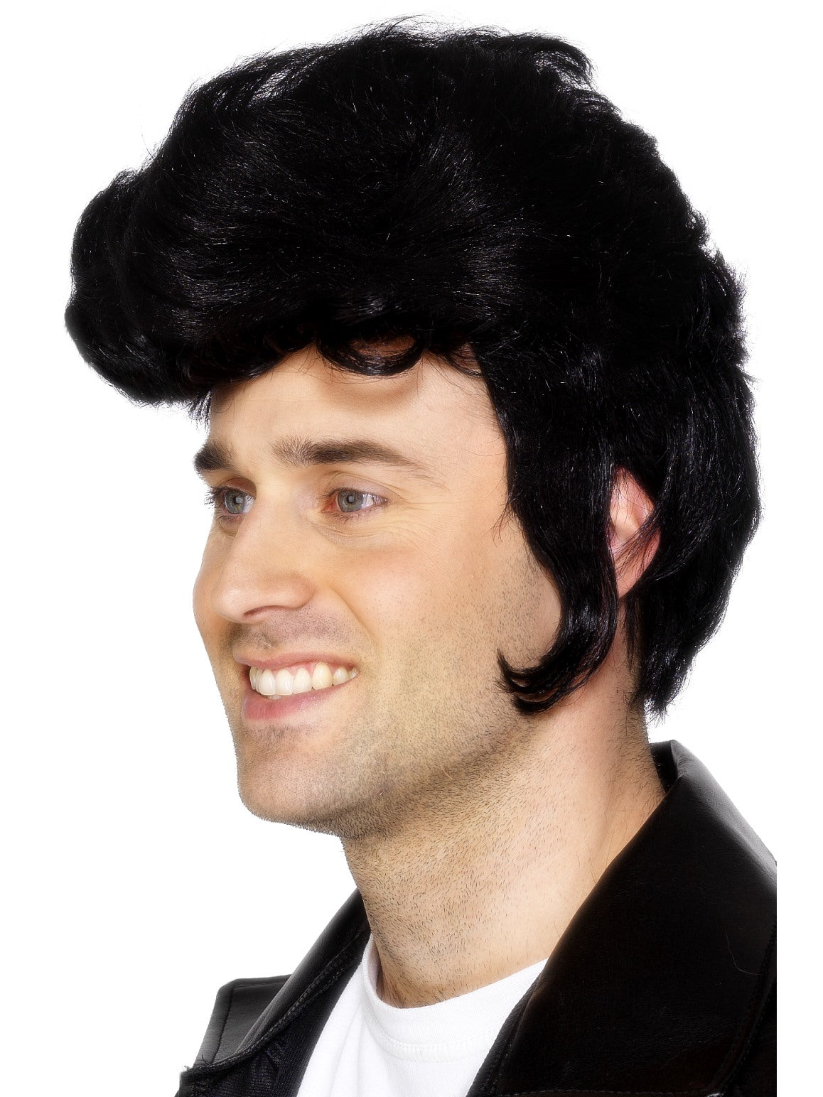 Black Elvis Rockstar Wig - Party Savers