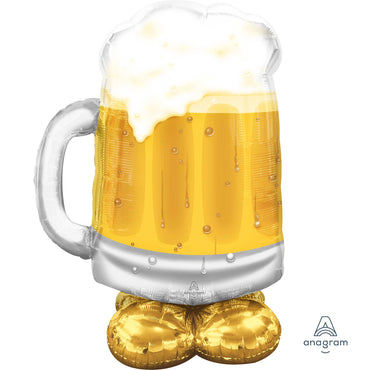 AirLoonz Big Beer Mug Foil Balloon 48cm x 94cm Each - Party Savers