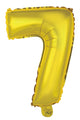 Number 7 Gold Foil Balloon 35cm