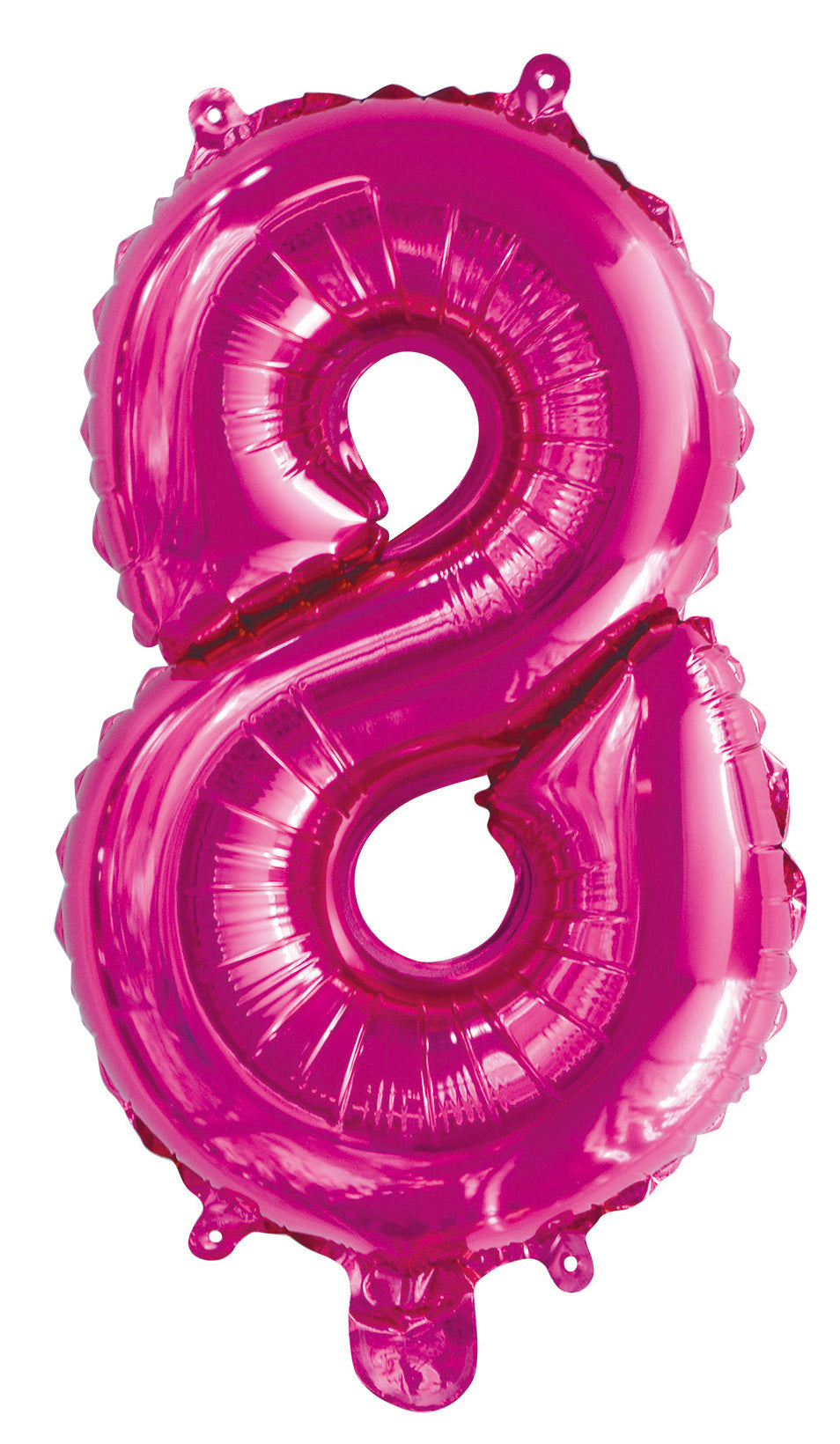 Number 8 Bright Pink Foil Balloon 35cm