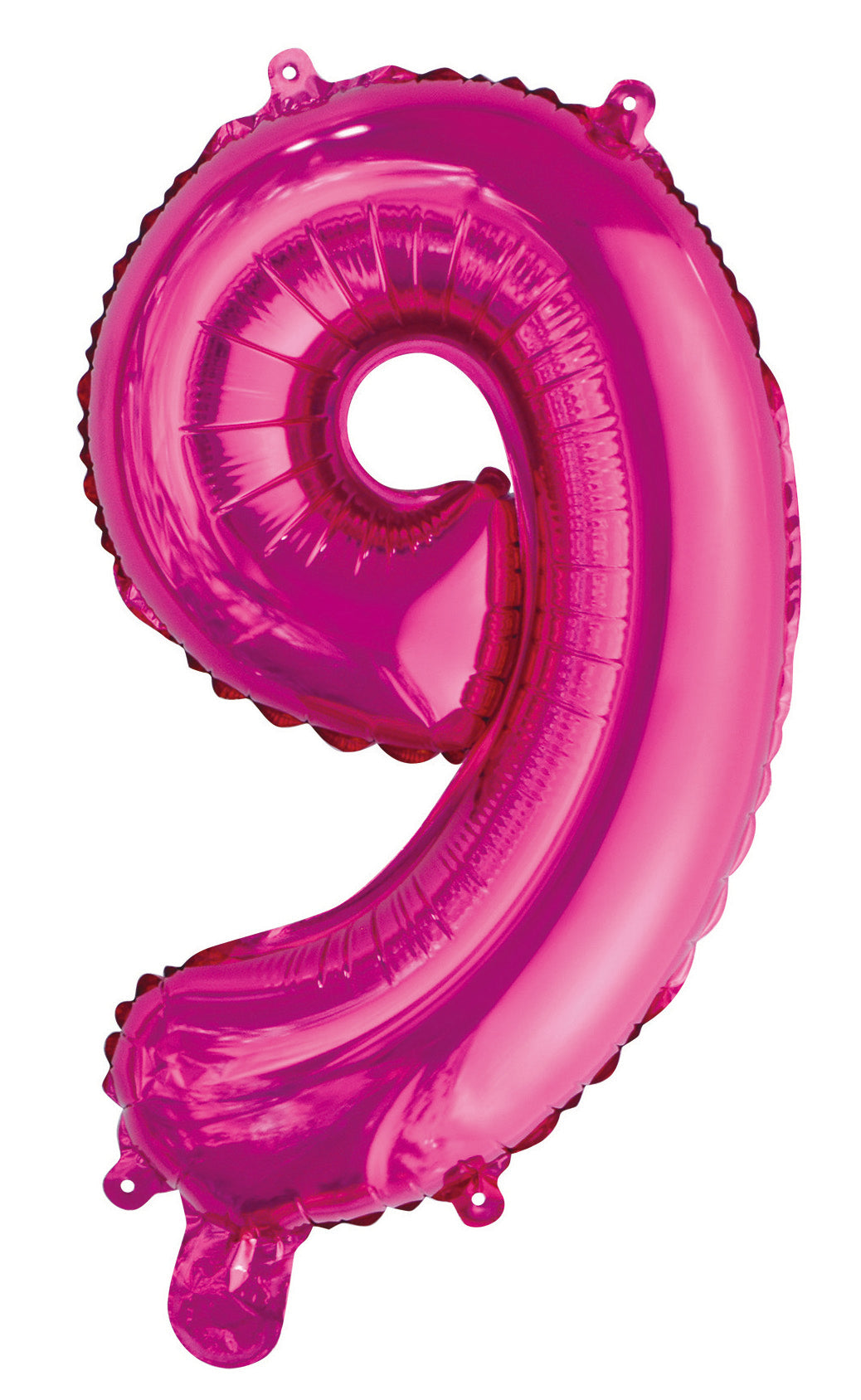 Number 9 Bright Pink Foil Balloon 35cm
