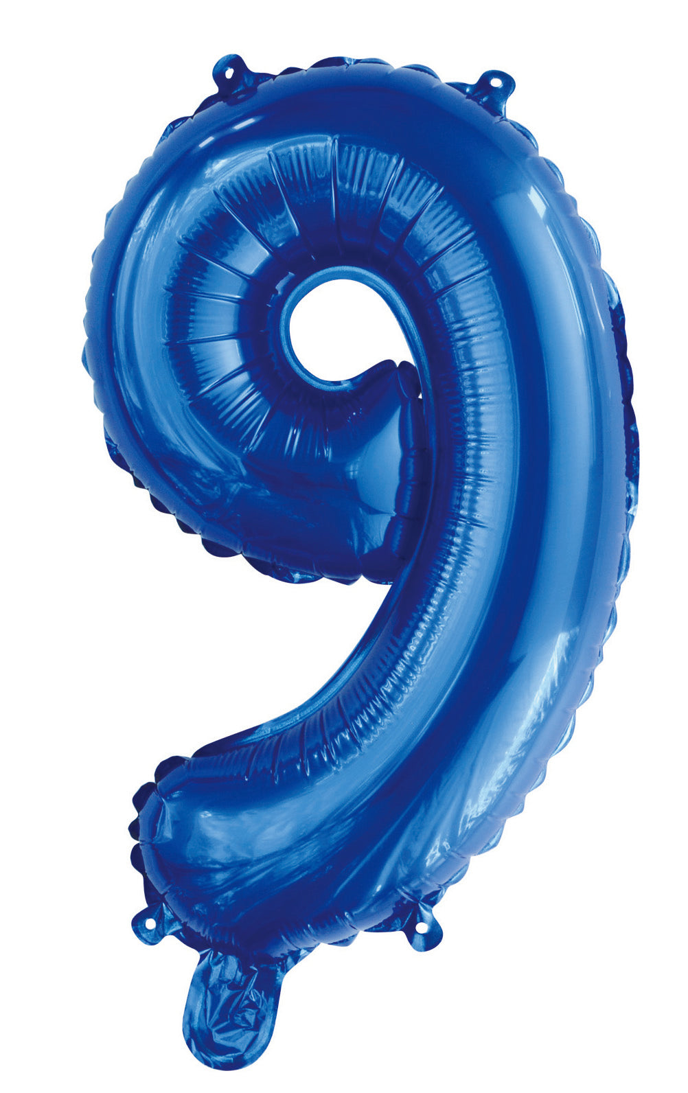 Number 9 Royal Blue Foil Balloon 35cm