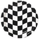 Black & White Check Dinner Plates 23cm 8pk