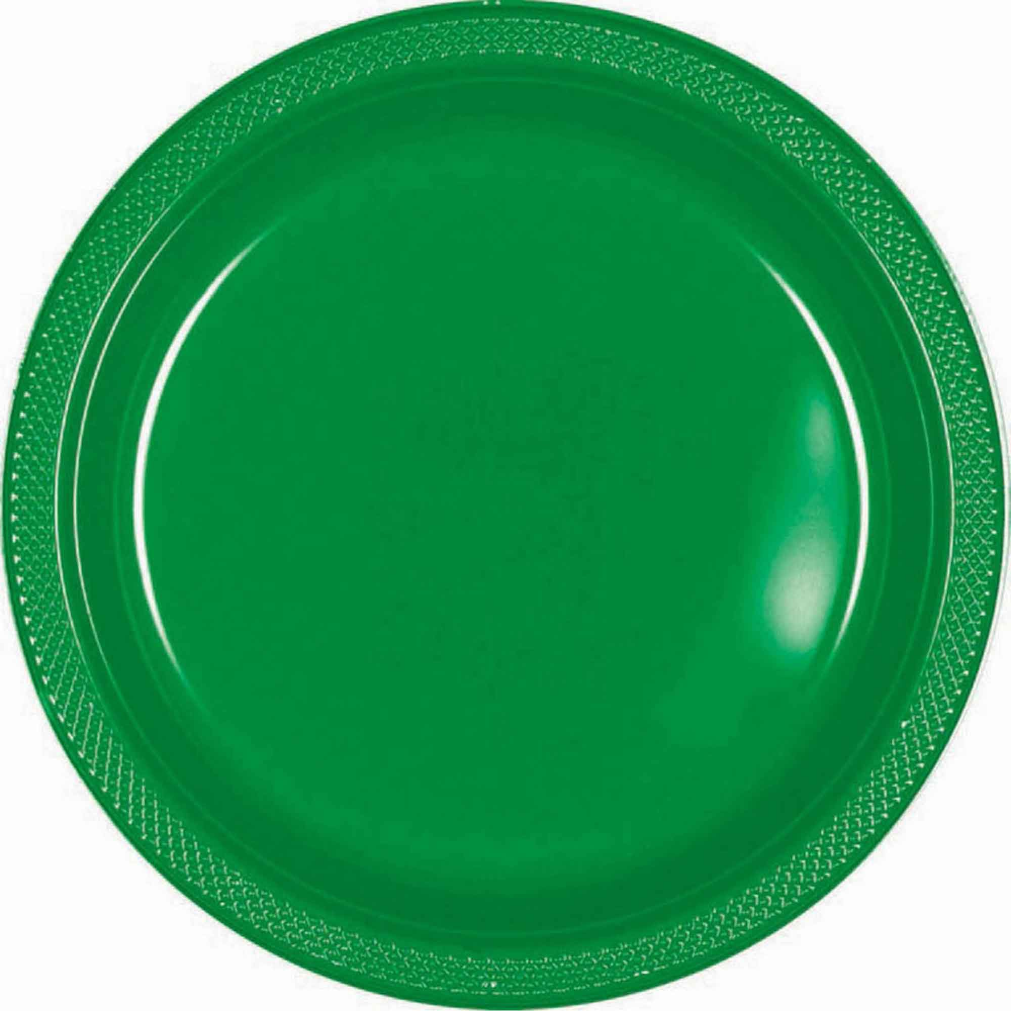 Lime Green Plastic Snack Plates 18cm 20pk - Party Savers
